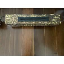 Lareira 48 cm comprimento x 14 largura x 19 altura com alça de ferro 57 cm 350.00 Madeira demolição
